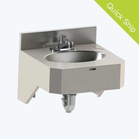 "Quick Ship 20"" Open Bottom Lavatory"