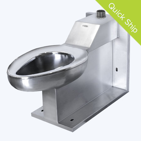 Quick Ship Front Access On Floor Siphon Jet Toilet with Top Supply