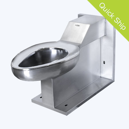 Quick Ship Front Access On Floor Siphon Jet Toilet with Back Supply